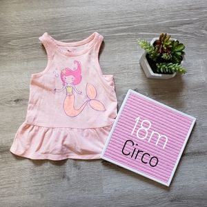 CIRCO mermaid peplum tank top